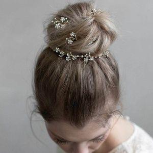Bridal hair accessories - 5 silver pins